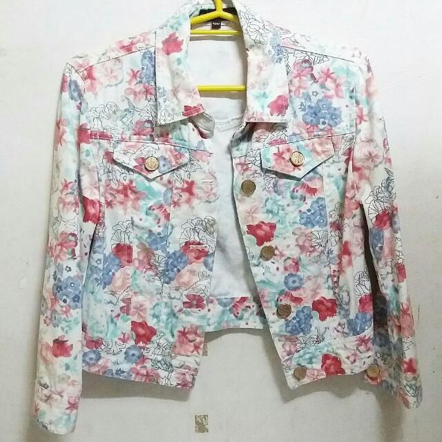Floral Cache cache jacket