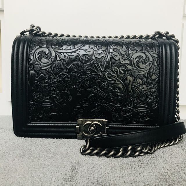 cbe04bafde57 Chanel Boy (Paris Dallas Collection), Luxury, Bags & Wallets on Carousell