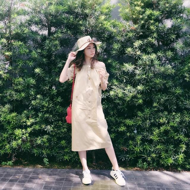 Cream Sabrina Dress