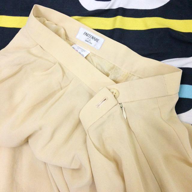 Cream Vintage Harem Pants