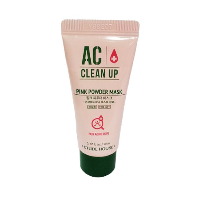 Etude House AC Clean Up Pink Powder Mask