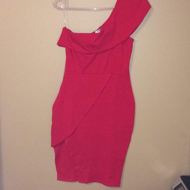 Fashion Nova Red Off The Shoulder Dress