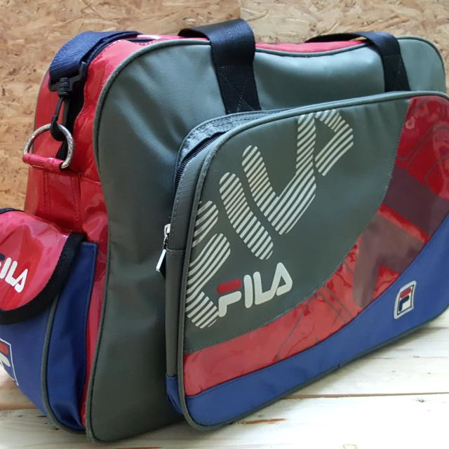 9f98b259fa1 FILA HAND CARRY TRAVEL BAG, Travel, Travel Essentials, Luggage on Carousell
