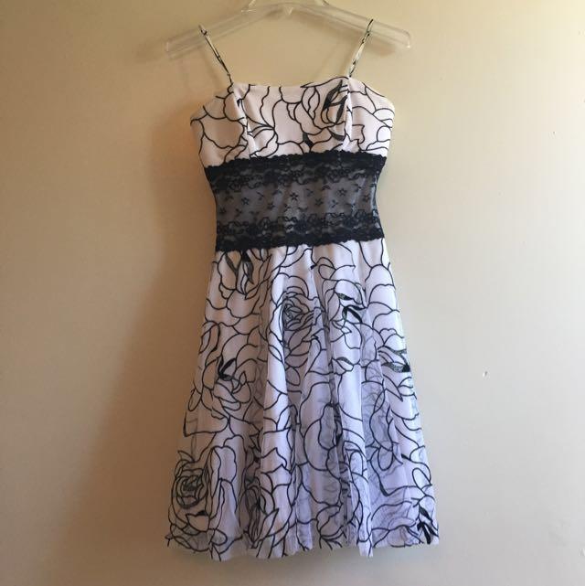 Flora White Dress