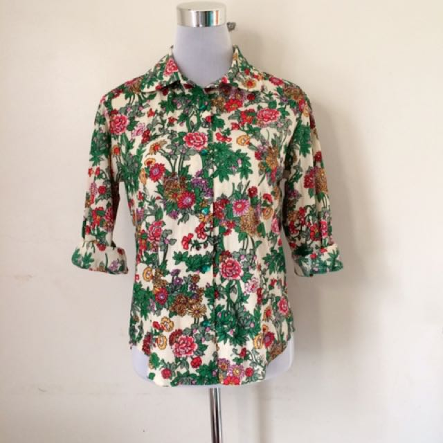 Floral Holiday Polo