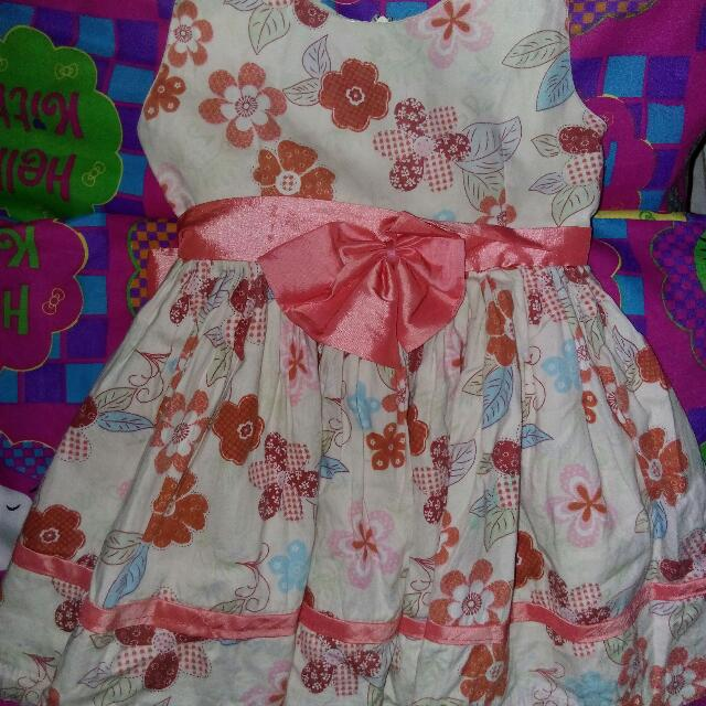 Reprice!!! 120 Pesos OnlyFlower Dress Very Cute In Actual For The Cuteness Babies Out There 😀