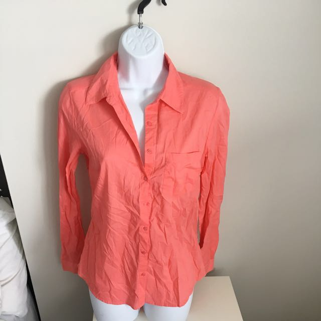 Forever 21 Coral Button Up Shirt