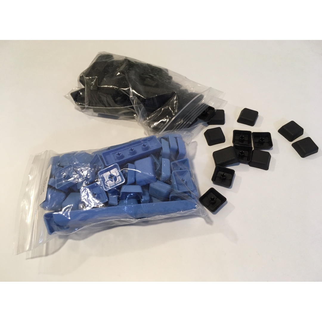 G20 eSports blank keycaps for TKL keyboards 2 sets (black and blue)