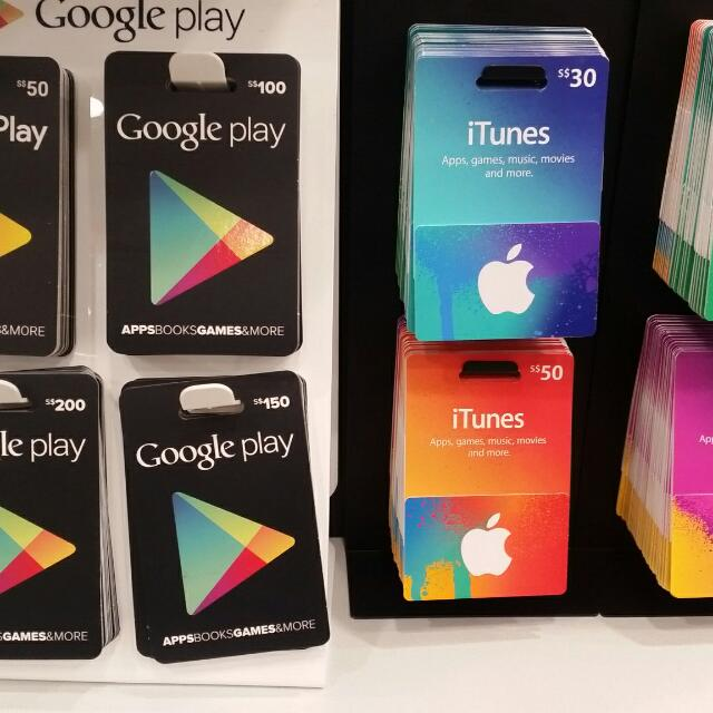 $20 Google Play Gift Card, Entertainment, Gift Cards ...