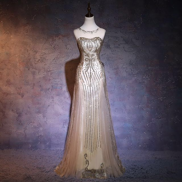 f7d8148cd46da Gold Class Evening gown (XS-XL, custom make avail), Women's Fashion ...
