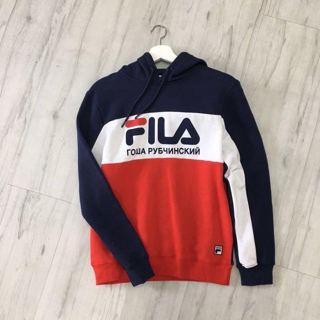 7a51a6c40d21 Gosha Rubchinskiy x Fila hoodie, Men's Fashion, Clothes on Carousell