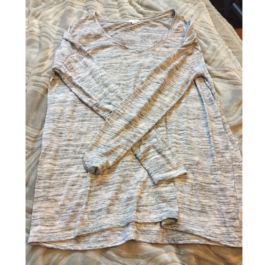 Grey and white mix garage long sleeved shirt