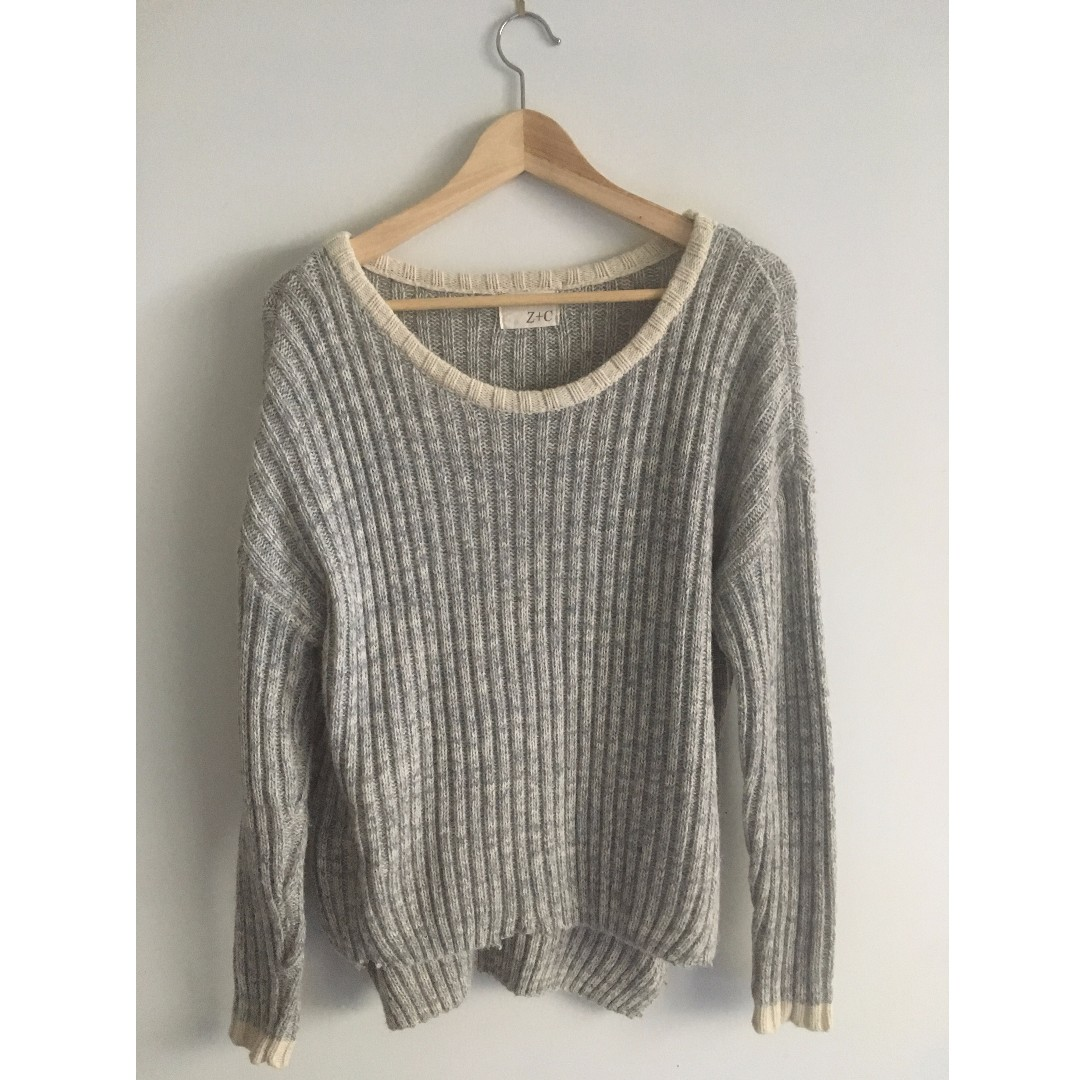 Grey Knit Sweater Jumper