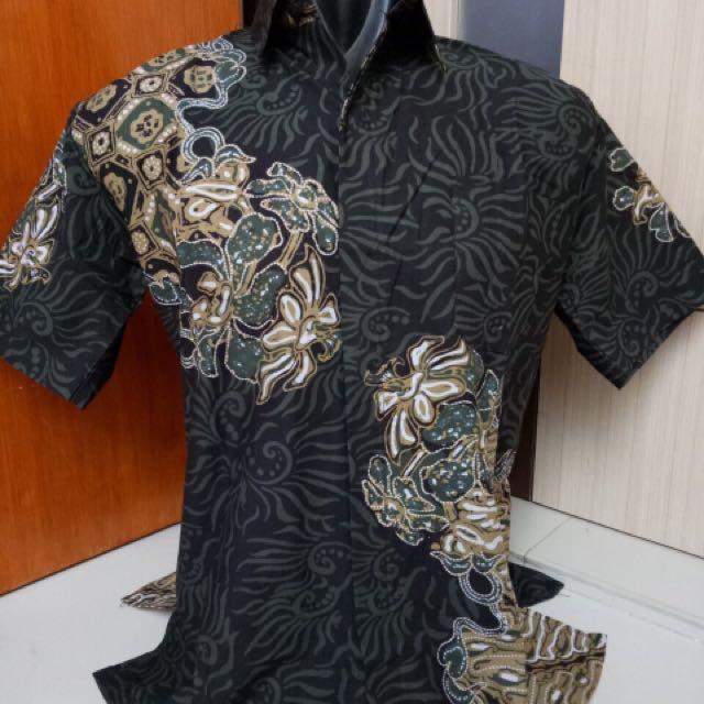 Hem Kemeja Batik Cap Tebal Limited