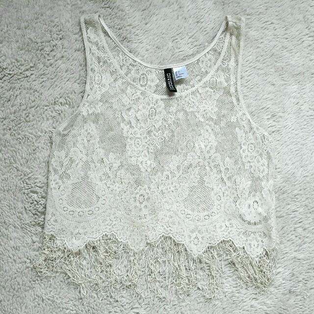 H&M divided cropped top lace beachwear