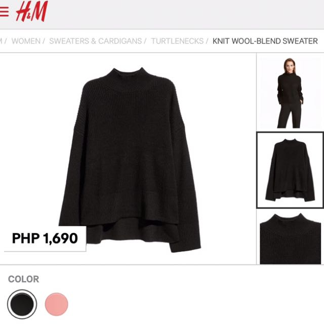 H&M Turtle Neck Lon Sleeves