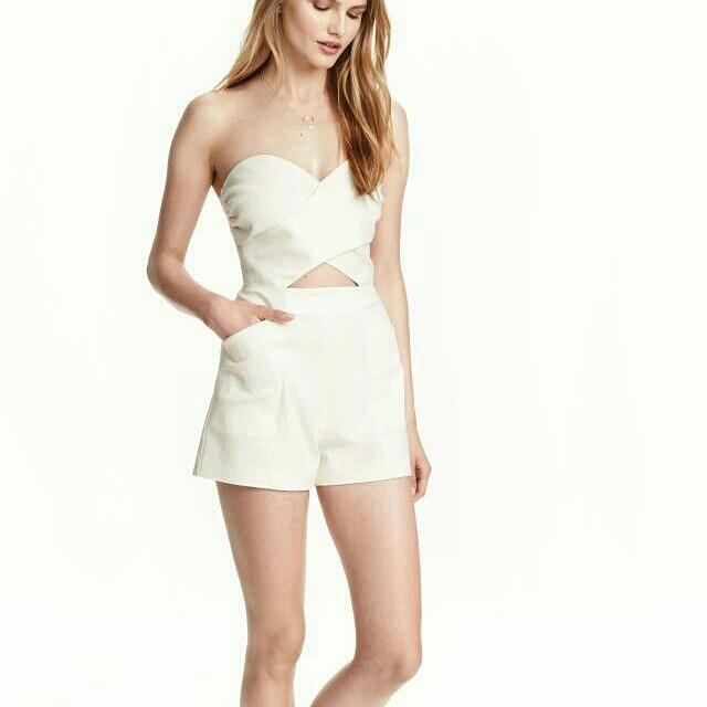 H&M white romper