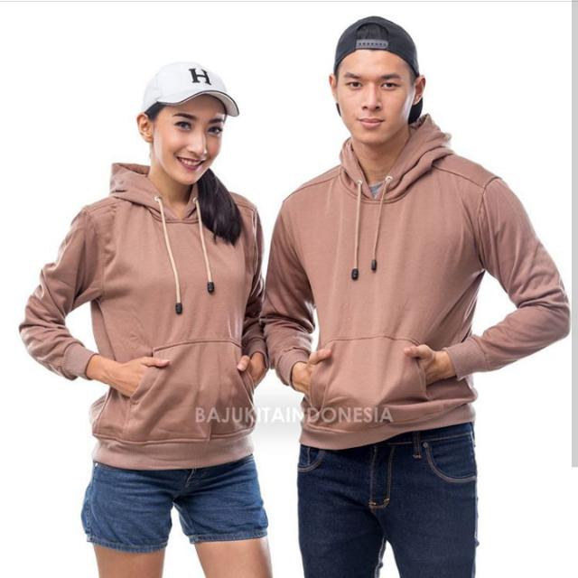 Hoodie Jumper Mocca Cotton Fleece
