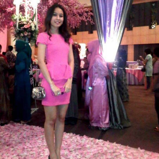 Hot Pink Peplum Dress