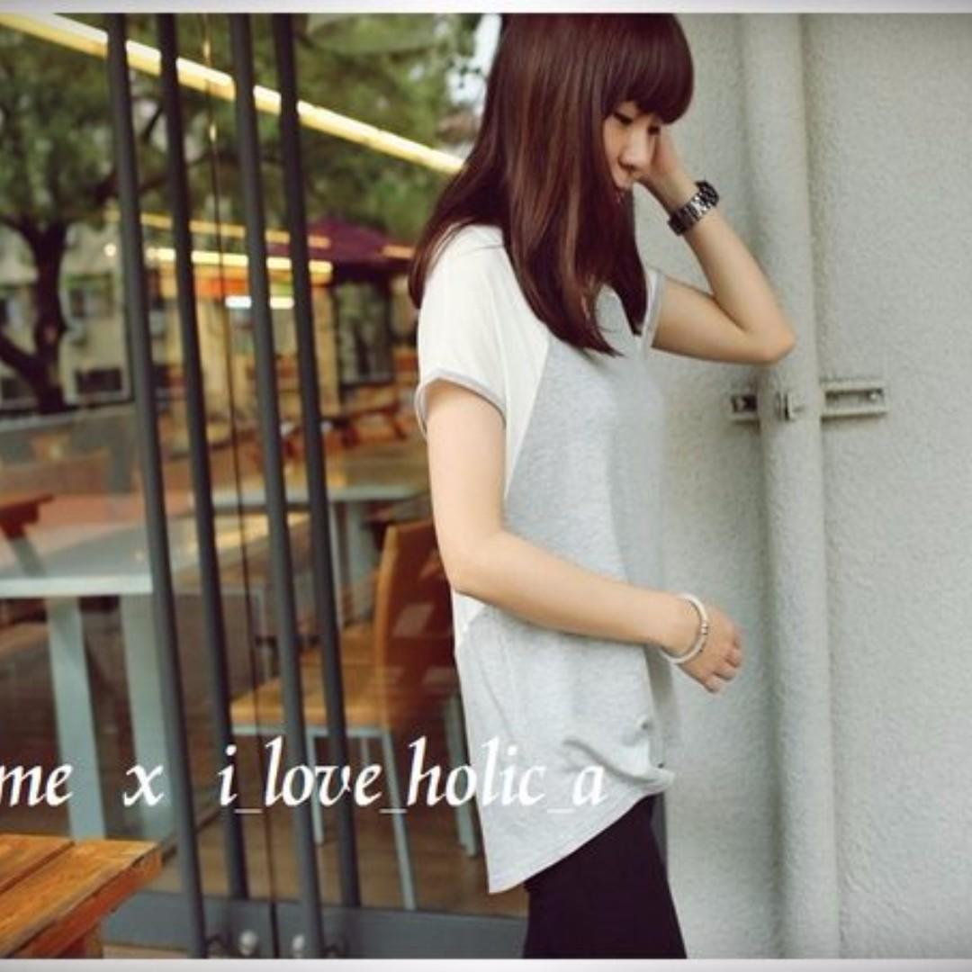 轉i_love_holic_a 韓貨灰白上衣