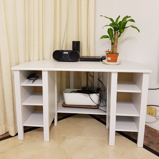 ikea corner table brusali corner desk furniture tables chairs on carousell. Black Bedroom Furniture Sets. Home Design Ideas