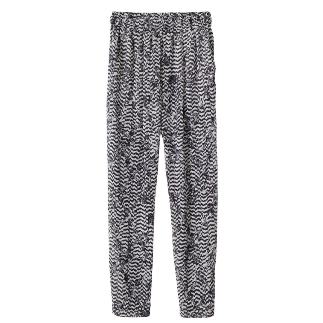 Isabel Marant Pour H&M / Silk Trousers / SIze 6 / Pants Sleep Abstract Gray Black