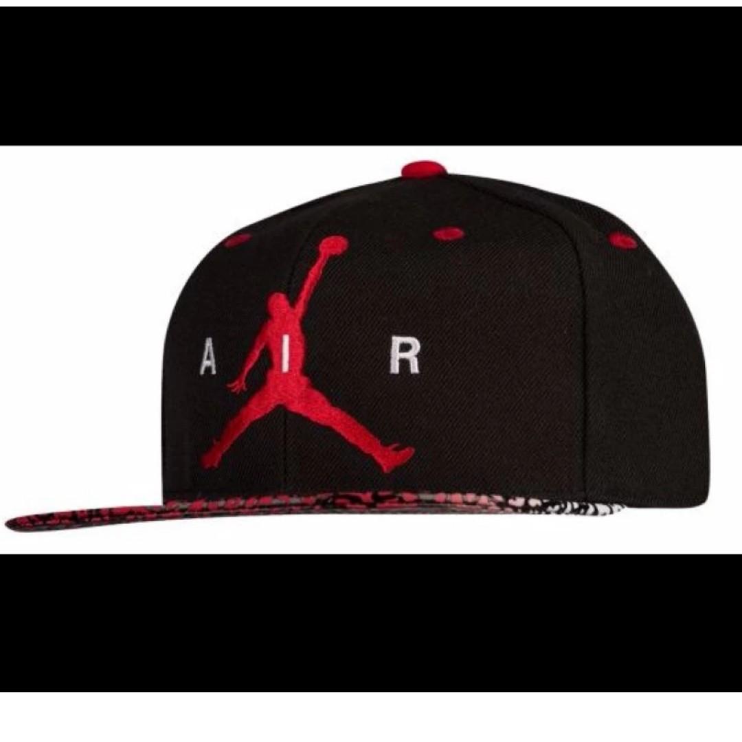 Jordan 91767KR5 Adult Elevate Snapback Cap (Black Gym Red White ... 82919a27c9ab