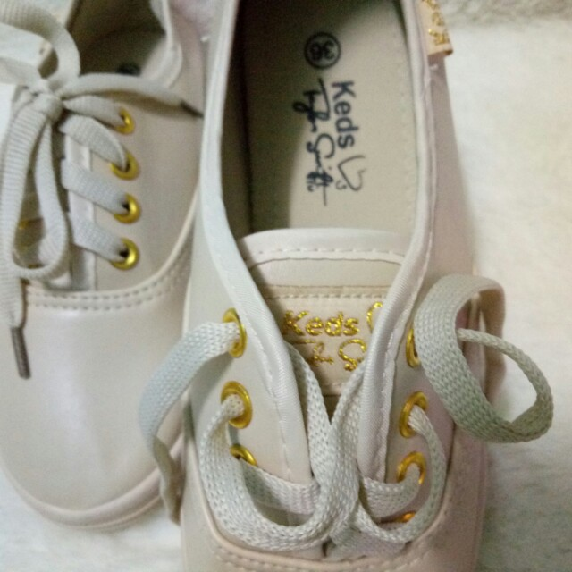 KEDS LEATHER SHOES BEIGE