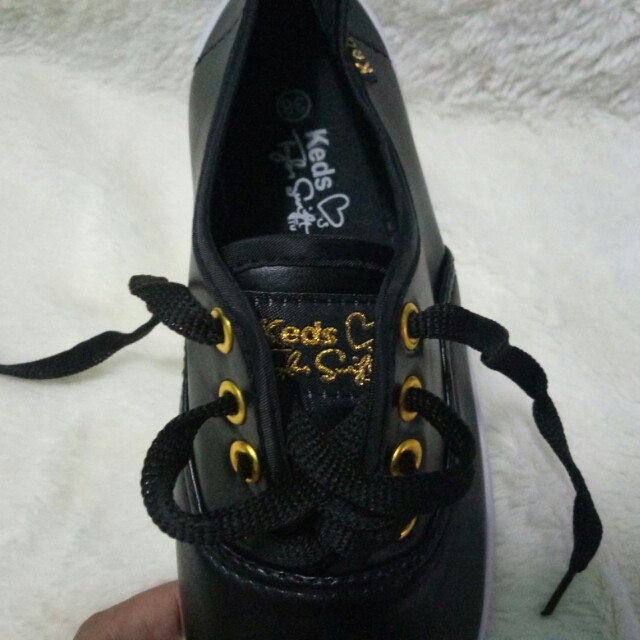 KEDS LEATHER SHOES BLACK