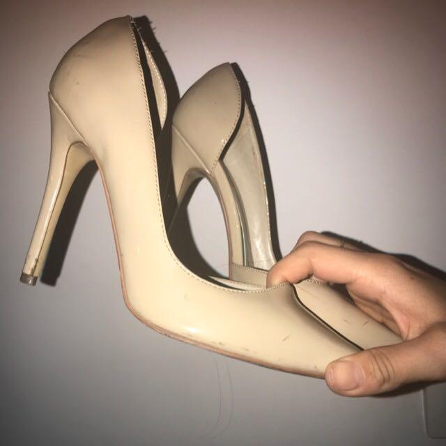 LIPSTIK nude Pumps High Heels Size 6