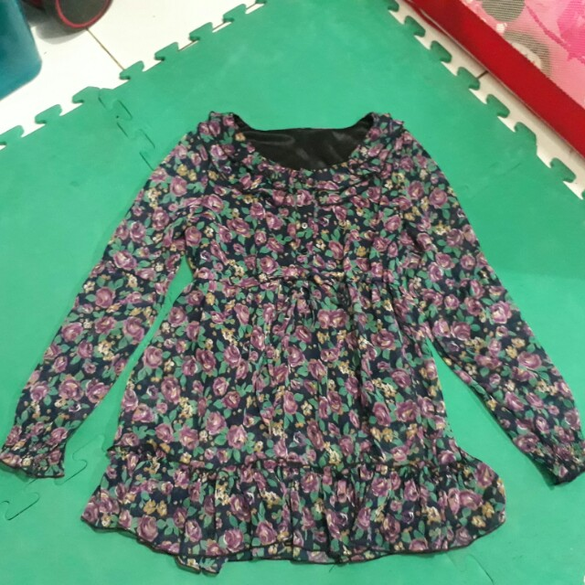 Loose Floral Blouse
