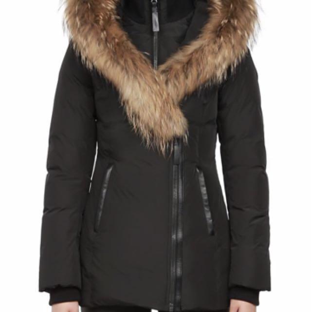Mackage Adali fitted winter down coat (black)
