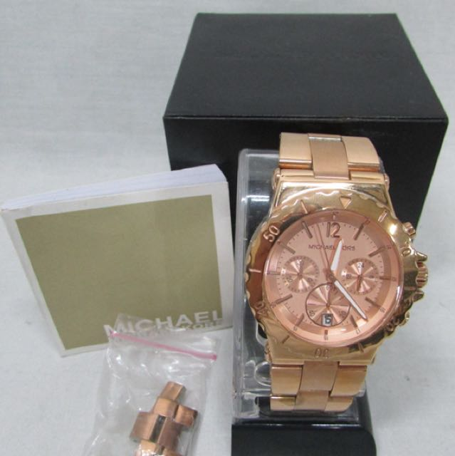 91d53911d11 Michael Kors Dylan Rose Gold Tone Chronograph Ladies Watch ...