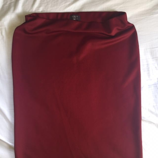 Mirrou Burgundy pencil skirt