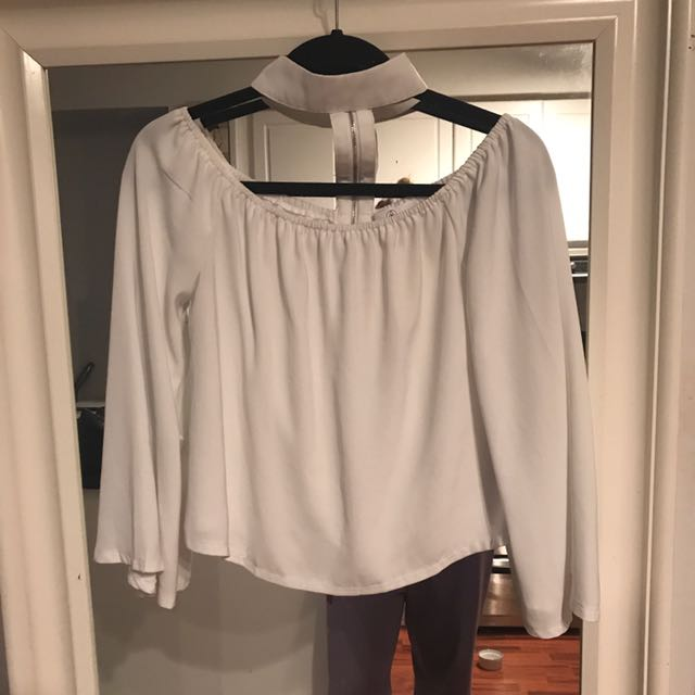 Misguided Choker Blouse Size 4