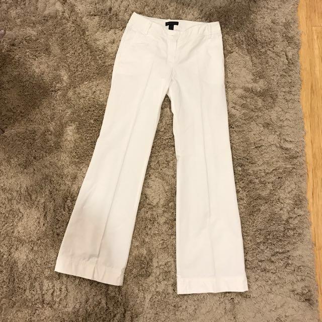 MNG white wide leg pants