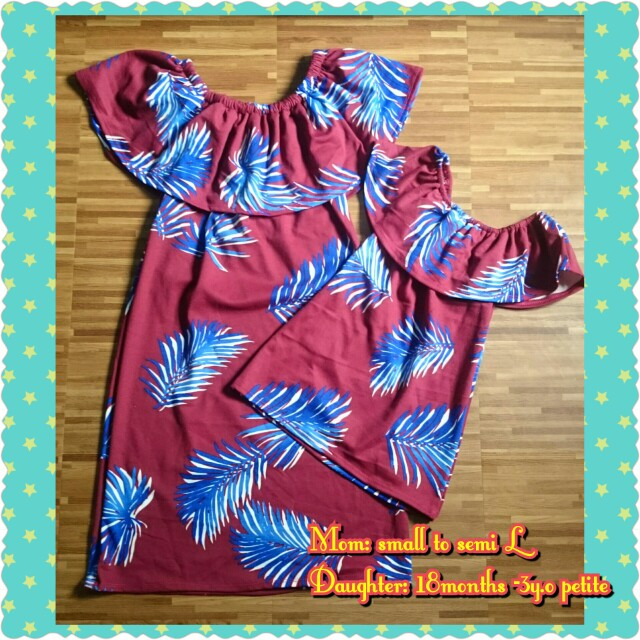 Mother and Daughter Terno offshoulder dress