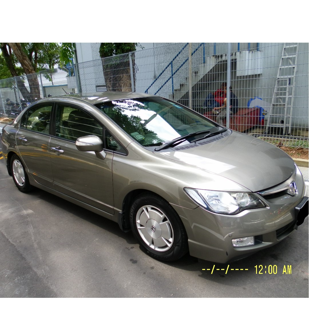 Marvelous Newly Arrived Grey Honda Civic Hybrid 1.3 Auto For Long Term Lease, Cars,  Vehicle Rentals On Carousell