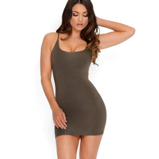 Oh Polly khaki dress