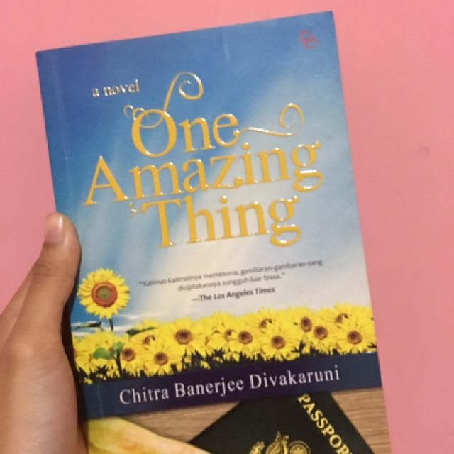 one amazing thing [one amazing thing] takes place in an embassy, so you've got people from all over the world that are there for various reasons, lamondia said there is a natural disaster which causes them to get trapped together.