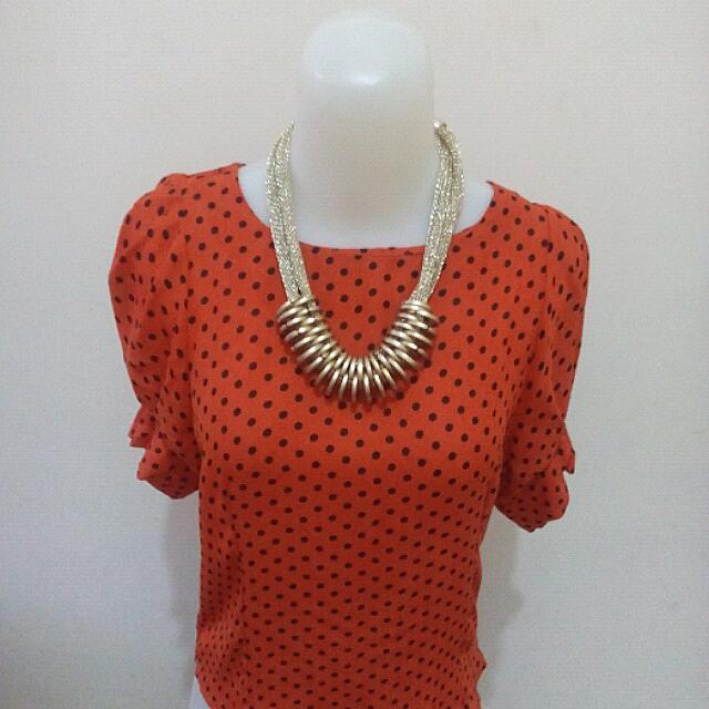 Orange Top Polka