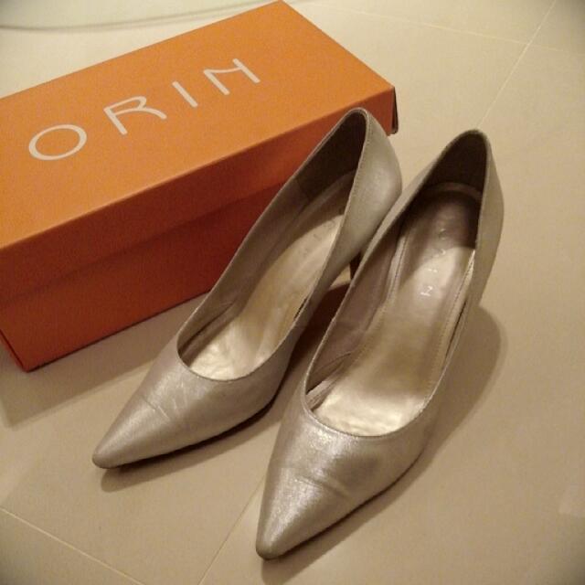ORIN 珍珠白高跟鞋~婚鞋/8成新