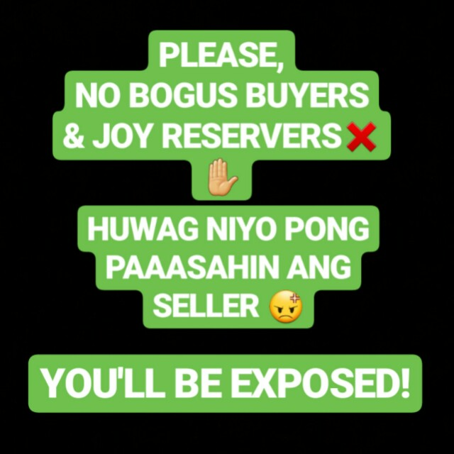 PLEASE! NO BOGUS BUYERS AND JOY RESERVERS! ❌✋😡