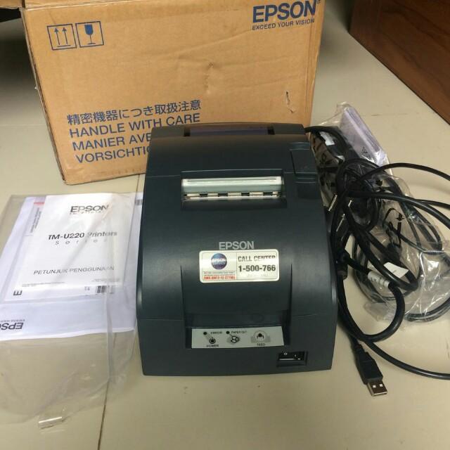 Printer Kasir Epson Tm U220d Elektronik Bagian Komputer Aksesoris Di Carousell