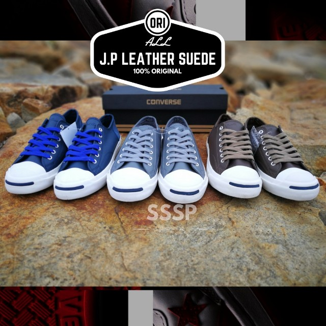 cbb59eb58424 Converse - Jack Purcell Leather Suede