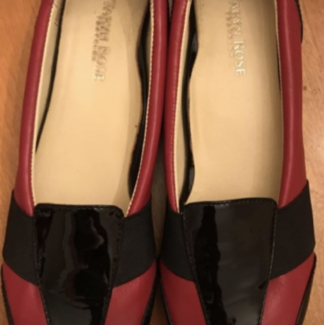 Red And Black Taryn Rose Flats