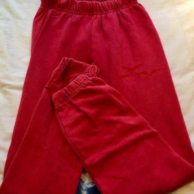 Red Lightweight Lazypants