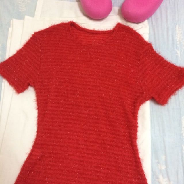 Red Wool Top