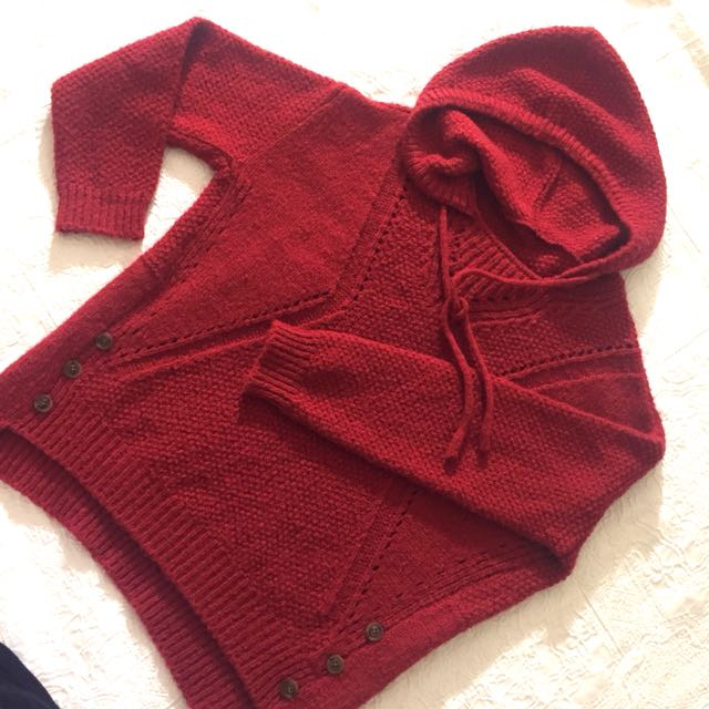 Red-Riding Knit Hoodie