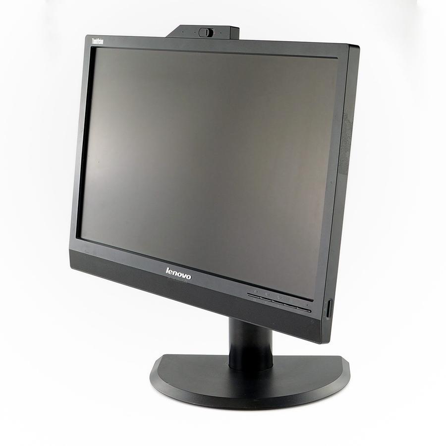 "Refurbished 21.5"" inch Lenovo LCD Monitor with HDMI, USB Hub, Webcam and Mic 1080p Warranty"